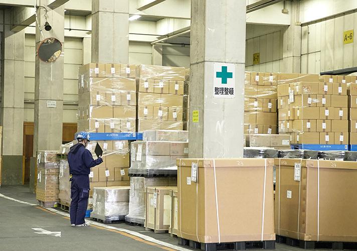 保税貨物のチェック